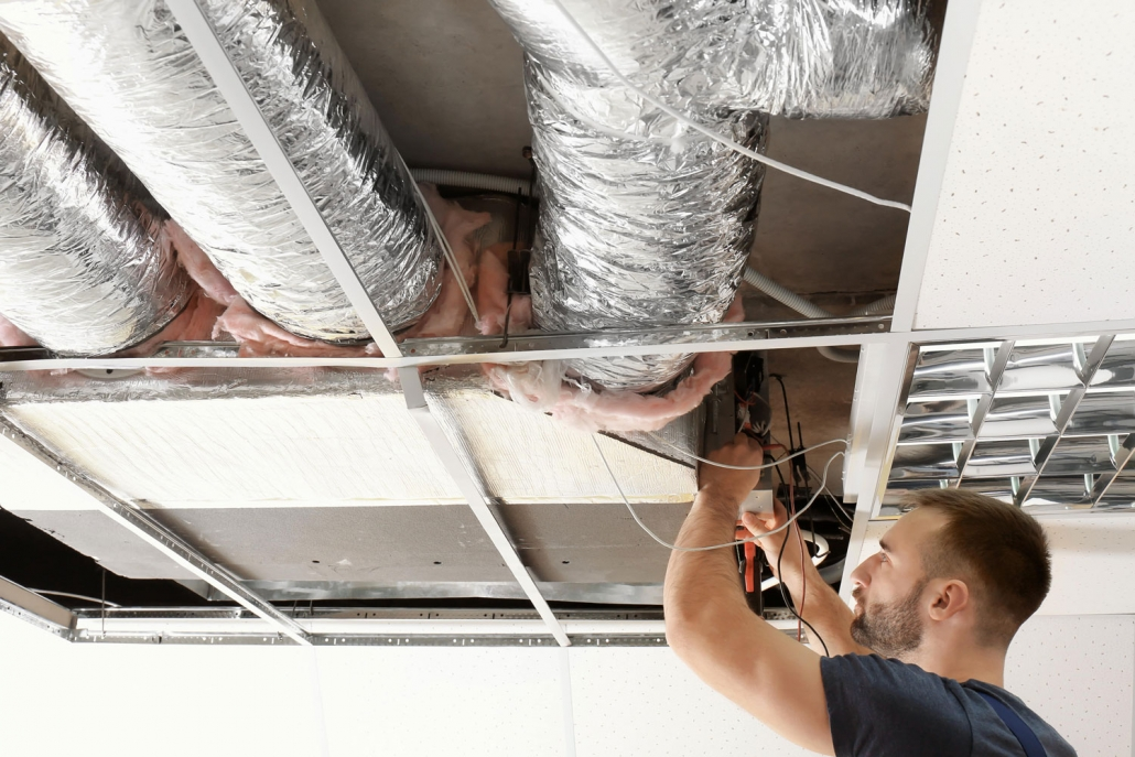 Commercial Air Conditioning in ceiling of Brisbane property.