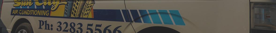 Sun City Air Conditioning Van Logo