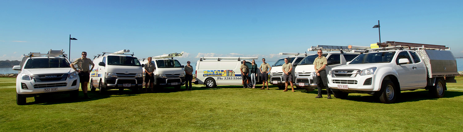 Sun City Air Conditioning Team and Fleet in Brisbane